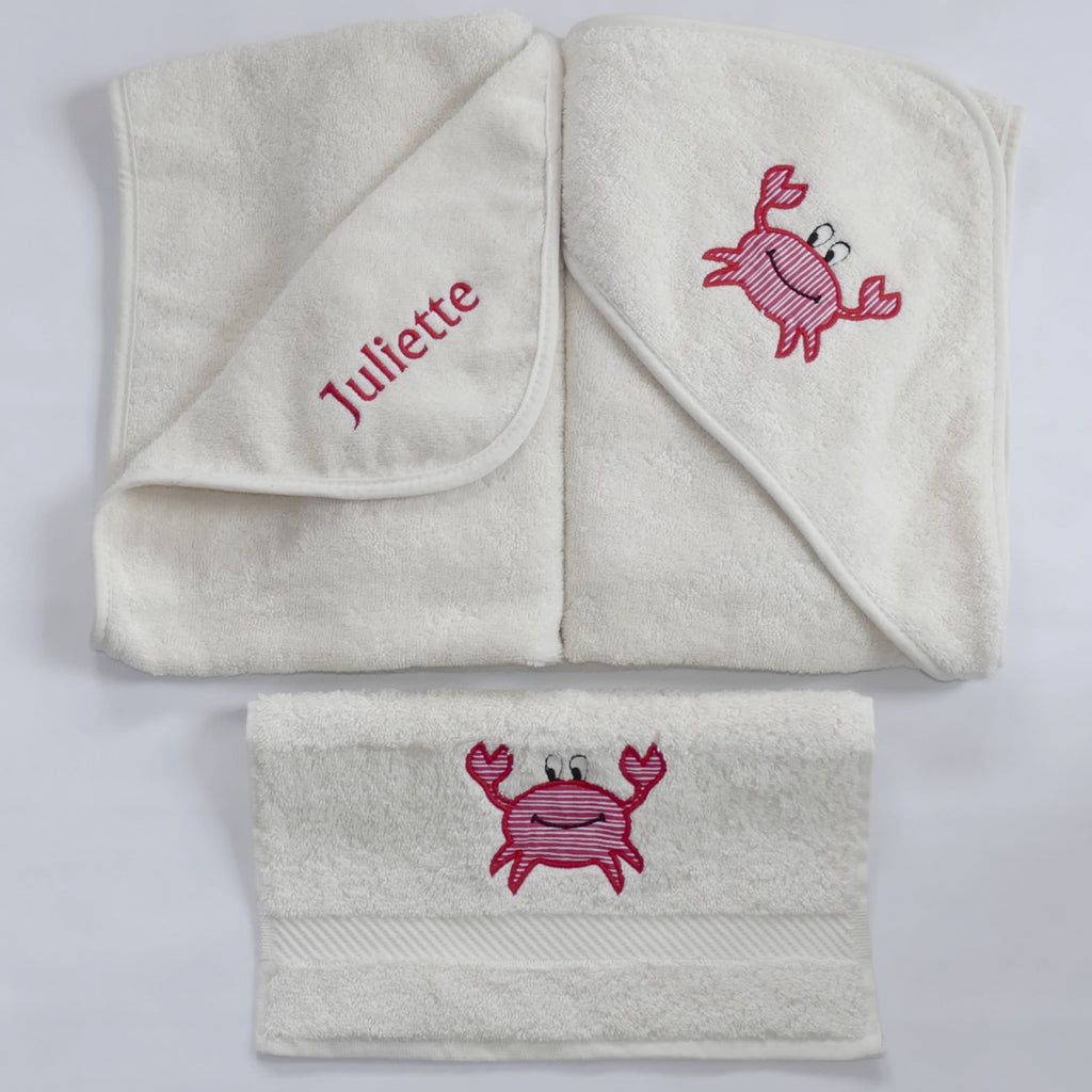 Personalised Bath Set | hooded towel and face cloth