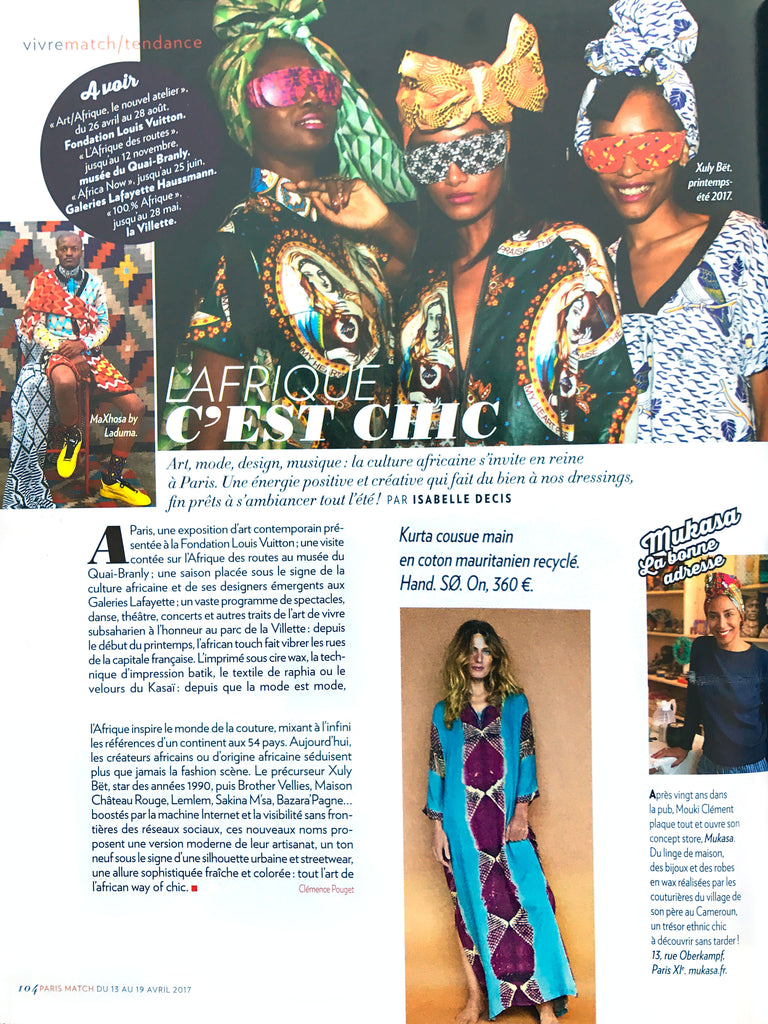 Parution Presse Paris Match mai