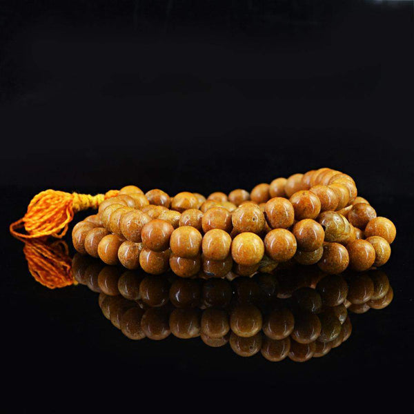 gemsmore:108 Prayer Mala Jasper Necklace Natural Round Shape Beads