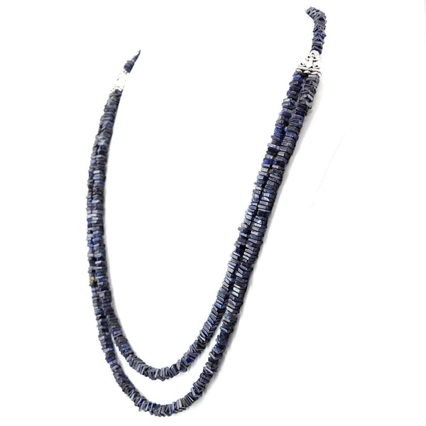 gemsmore:2 Strand Blue Tanzanite Necklace Natural Unheated Beads - Amazing
