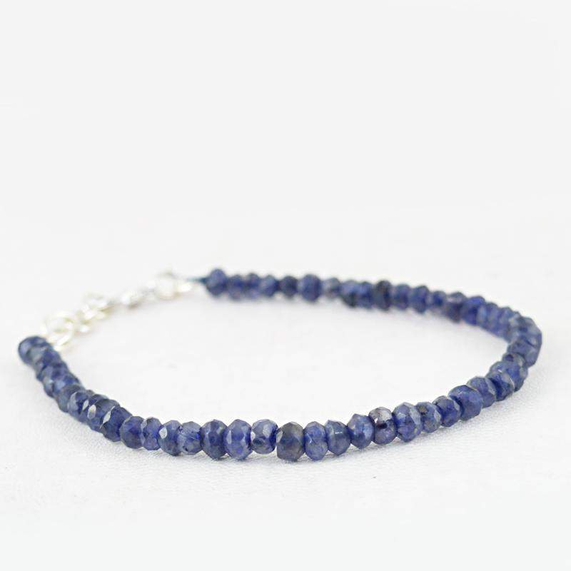 gemsmore:35.00 Cts Blue Tanzanite Bracelet Faceted - Natural Round Shape