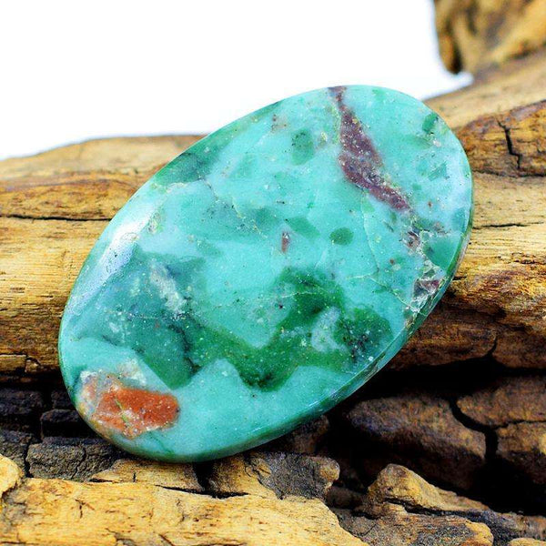gemsmore:Aamzing Natural Oval Shape Chrysoprase Loose Gemstone