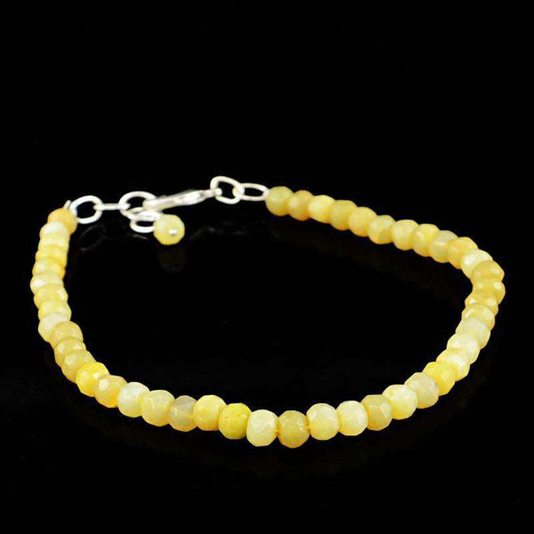 gemsmore:Agate Bracelet - Natural Round Shape Faceted Beads