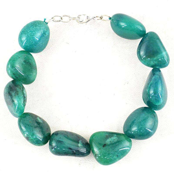 gemsmore:Agate Bracelet Natural Untreated Beads