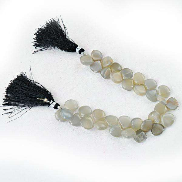 gemsmore:Amazing Agate Pear Shape Drilled Beads Strand