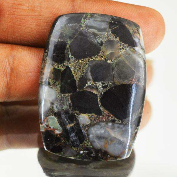 gemsmore:Amazing Black Conglomerate Jasper Untreated Loose Gemstone