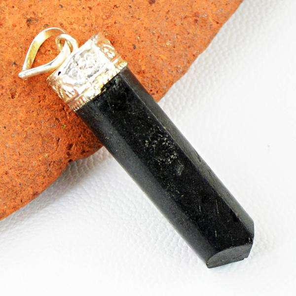 gemsmore:Amazing Black Spinel Healing Point Pendant