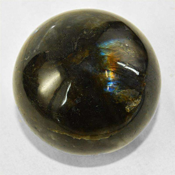 gemsmore:Amazing Blue Flash Labradorite Hand Carved Crystal Healing Sphere