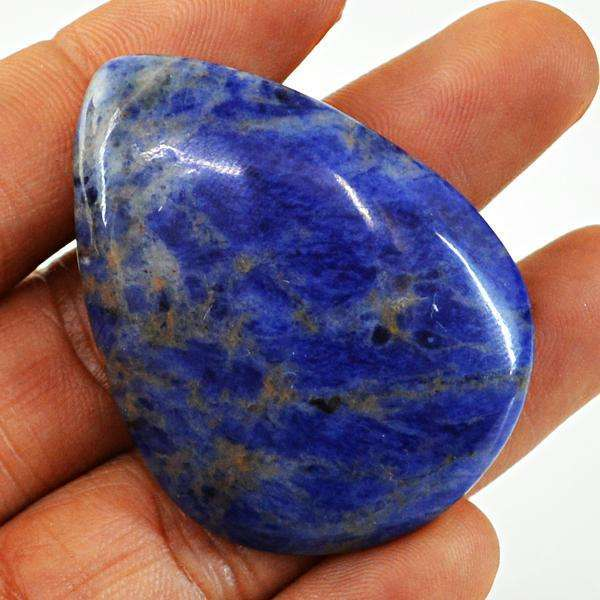 gemsmore:Amazing Blue Sodalite Pear Shape Untreated Loose Gemstone
