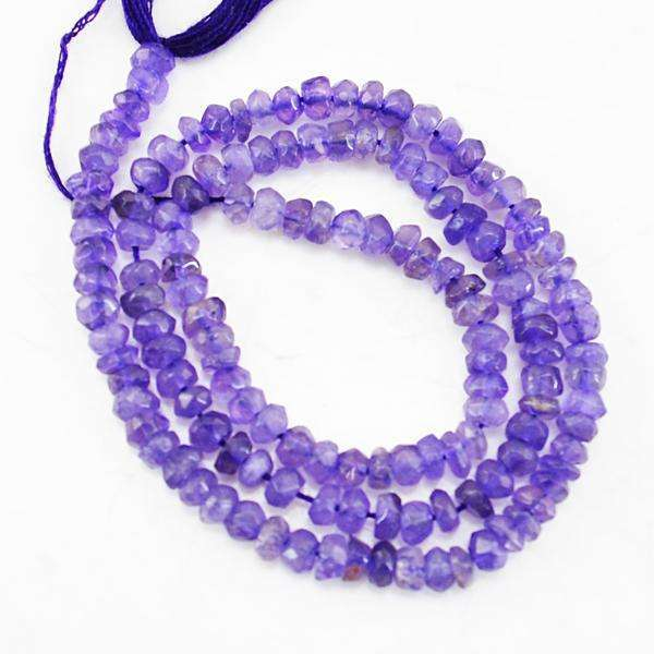 gemsmore:Amazing Faceted Purple Amethyst Drilled Beads Strand