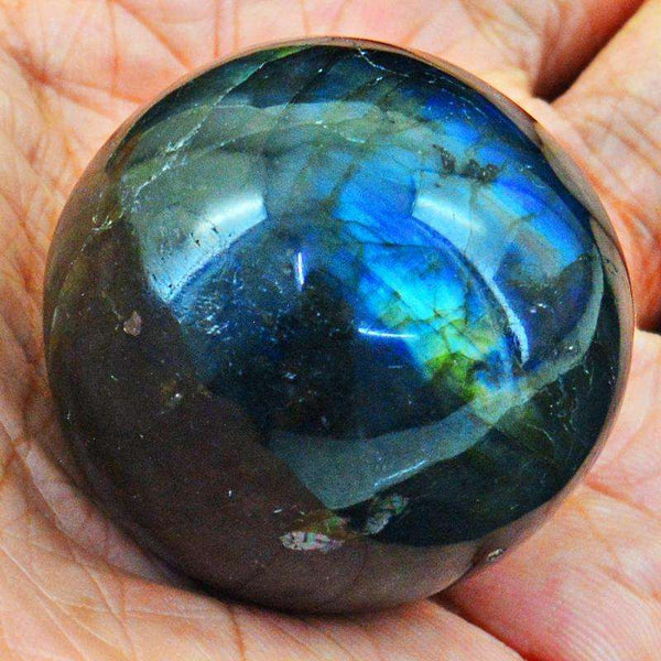 gemsmore:Amazing Flash Labradorite Carved Healing Sphere