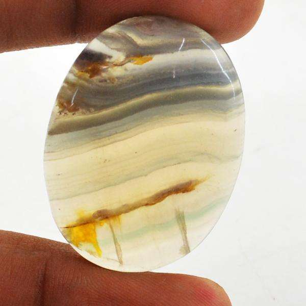 gemsmore:Amazing Genuine Fluorite Oval Shape Untreated Loose Gemstone