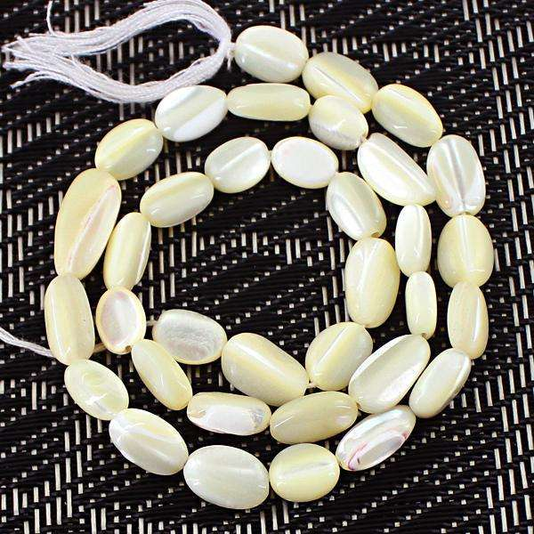 gemsmore:Amazing Genuine Mother Pearl Drilled Beads Strand