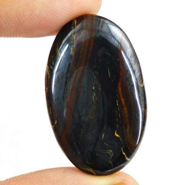 gemsmore:Amazing Genuine Oval Shape Iron Tiger Eye Untreated Loose Gemstone