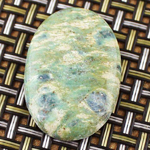 gemsmore:Amazing Genuine Ruby Zoisite Oval Shape Loose Gemstone