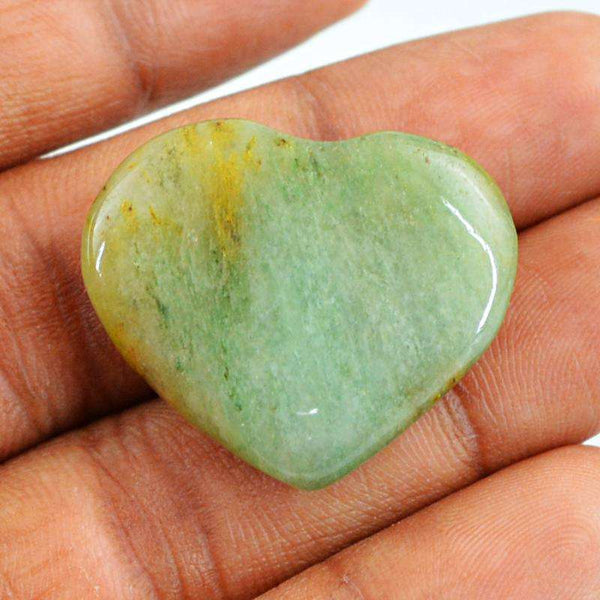 gemsmore:Amazing Green Aquamarine Gemstone Natural Heart Shape