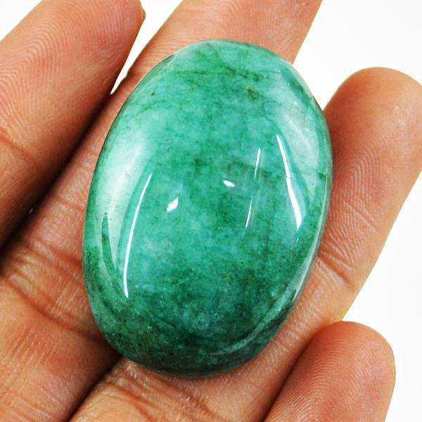gemsmore:Amazing Green Emerald Oval Shape Loose Gemstone