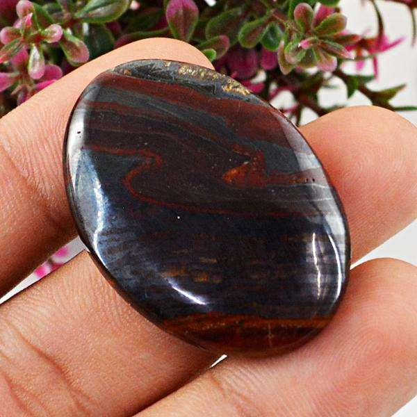 gemsmore:Amazing Iron Tiger Eye  Oval Shape Loose Gemstone