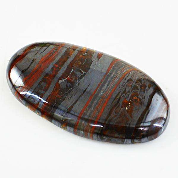 gemsmore:Amazing Iron Tiger Eye Oval Shape Untreated Loose Gemstone