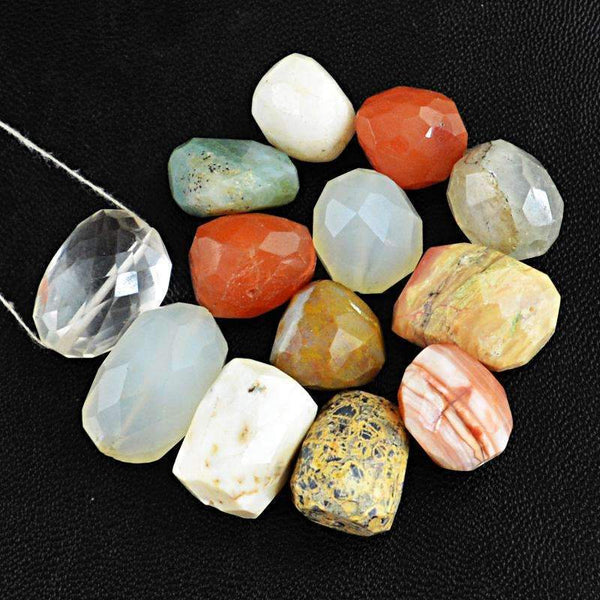 gemsmore:Amazing Multicolor Multi Gemstone Drilled Beads Lot - Natural Faceted