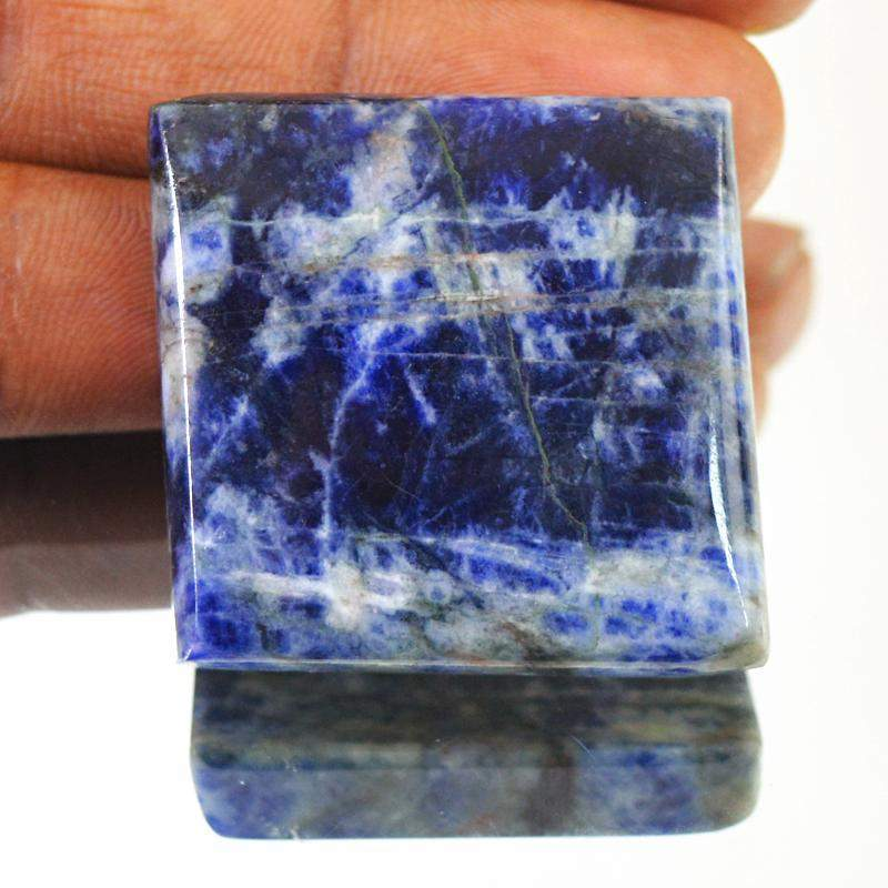 gemsmore:Amazing Natural Blue Sodalite Loose Gemstone