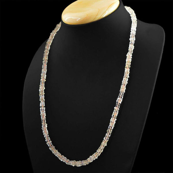 gemsmore:Amazing Natural Citrine Necklace Untreated Beads