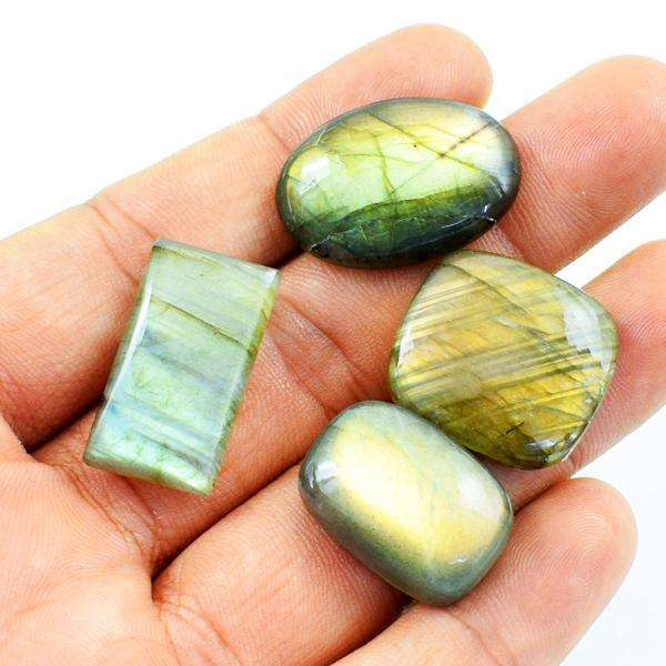gemsmore:Amazing Natural Golden Flash Labradorite Loose Gemstone Lot