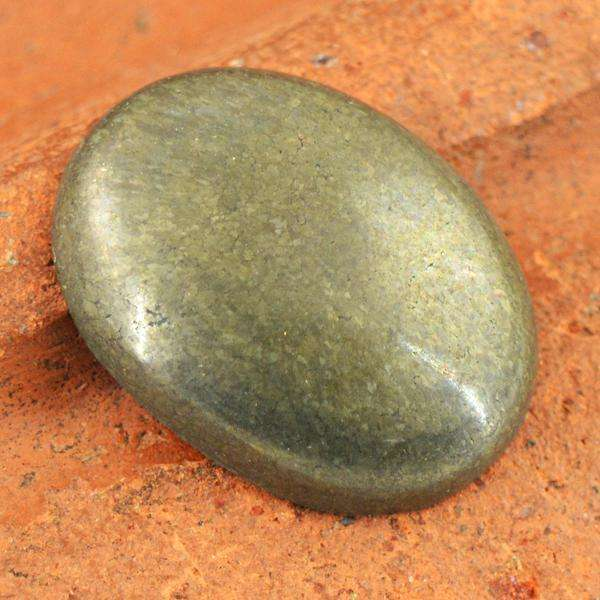 gemsmore:Amazing Natural Golden Hematite Oval Shape Untreated Loose Gemstone