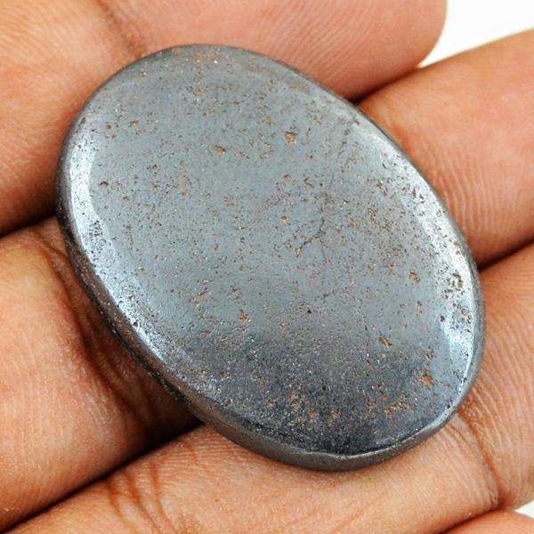 gemsmore:Amazing Natural Hematite Oval Shape Untreated Loose Gemstone