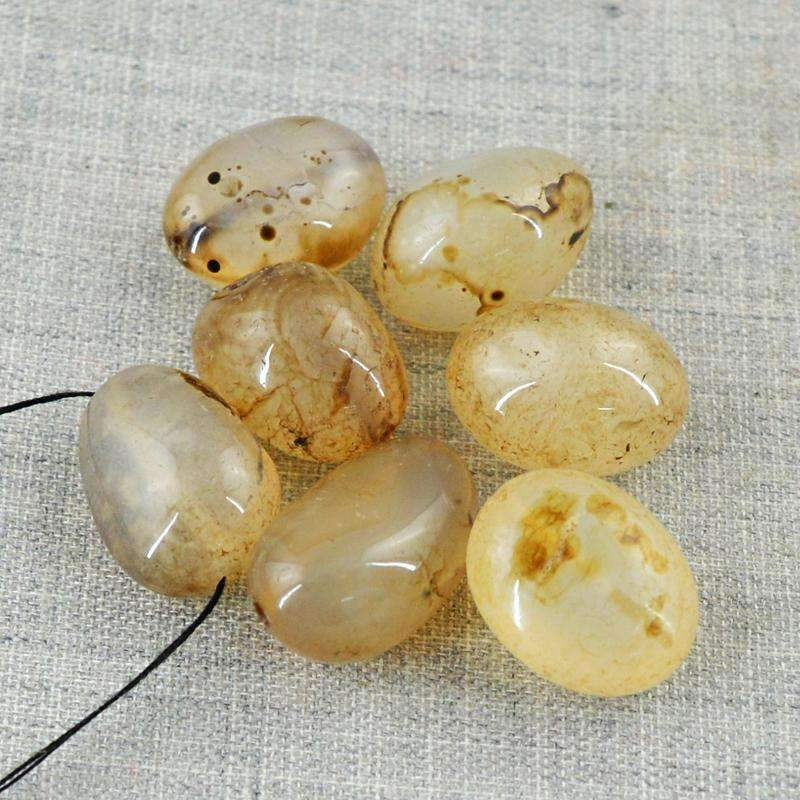 gemsmore:Amazing Natural Onyx Drilled Beads Lot