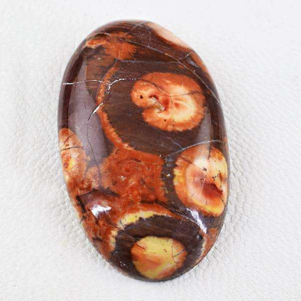 gemsmore:Amazing Natural Oval Shape Bird Eye Jasper Untreated Loose Gemstone