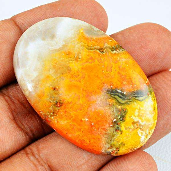 gemsmore:Amazing Natural Oval Shape Bumble Bee Jasper Untreated Loose Gemstone