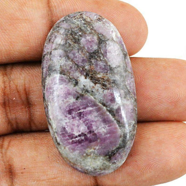 gemsmore:Amazing Natural Ruby Ziosite Gemstone - Oval Shape