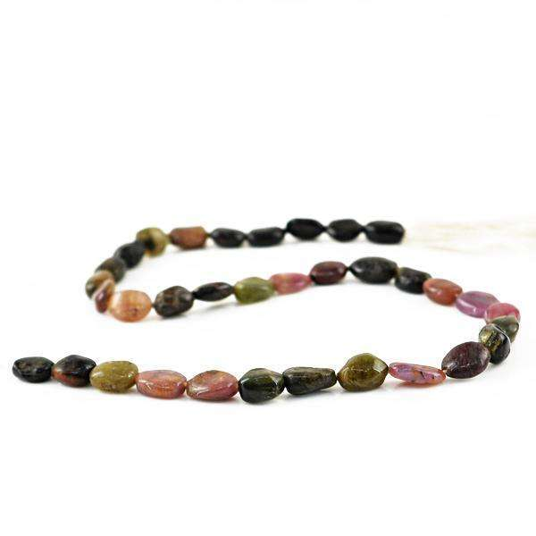 gemsmore:Amazing Natural Watermelon Tourmaline Drilled Beads Strand