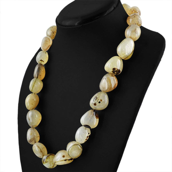 gemsmore:Amazing Onyx Necklace Natural Untreated Beads