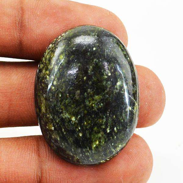 gemsmore:Amazing Oval Shape Forest Green Jasper Untreated Loose Gemstone