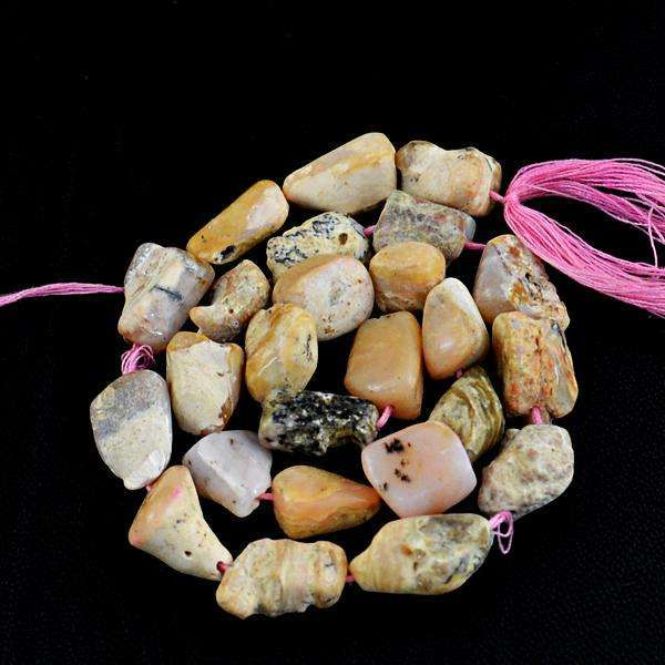 gemsmore:Amazing Pink Australian Opal Drilled Beads Strand