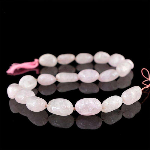 gemsmore:Amazing Pink Rose Quartz Beads Strand Natural Unheated