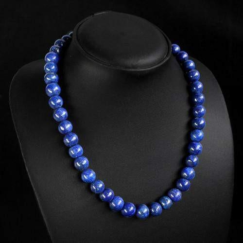 gemsmore:Beautiful Genuine Lapis Lazulli Necklace