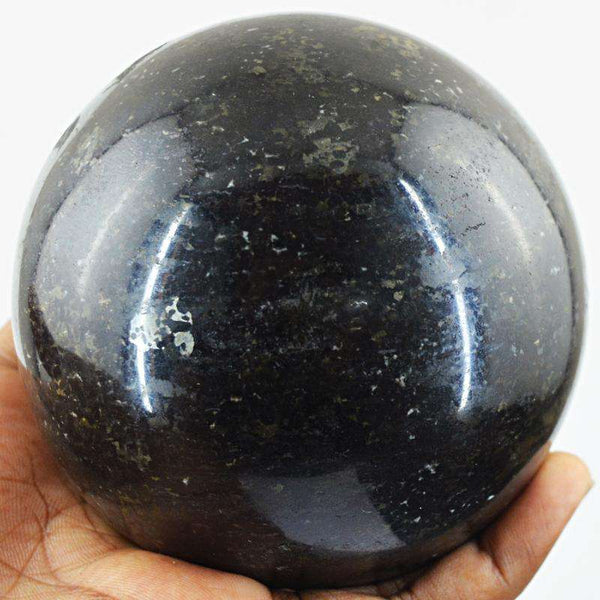 gemsmore:Black Spinel Hand Carved Reiki Healing Ball