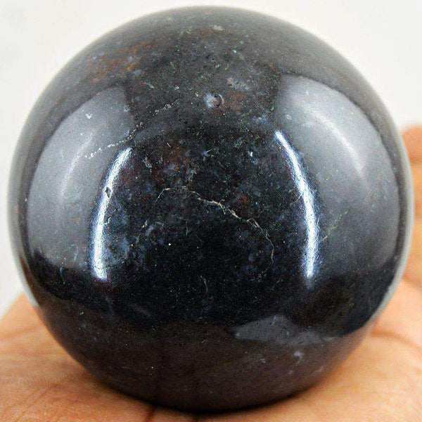 gemsmore:Black Tourmaline Crystal Healing Sphere - Huge