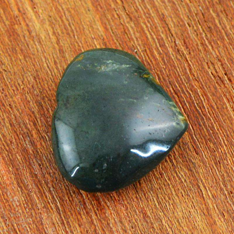 gemsmore:Blood Green Jasper Gemstone Natural Untreated Heart Shape