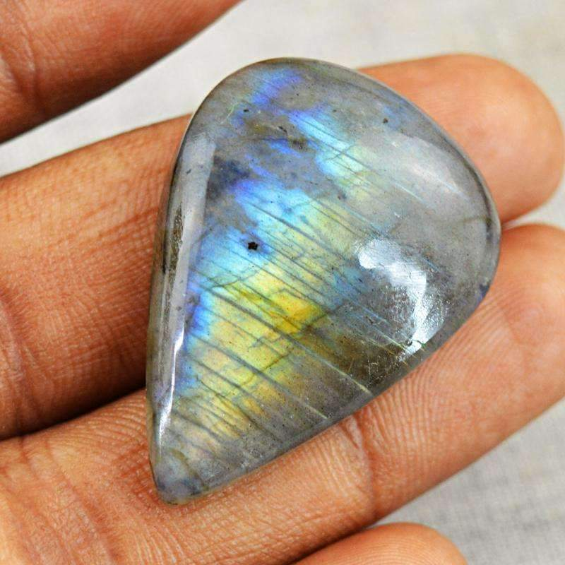 gemsmore:Blue & Golden Labradorite Gemstone Natural Pear Shape