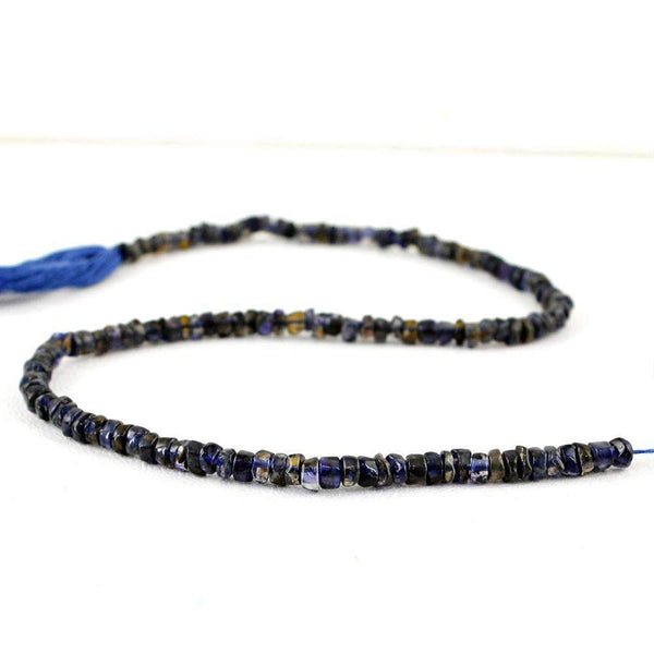 gemsmore:Blue Tanzanite Beads Strand - Natural Drilled