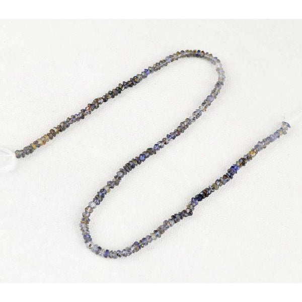 gemsmore:Blue Tanzanite Beads Strand - Natural Faceted Drilled
