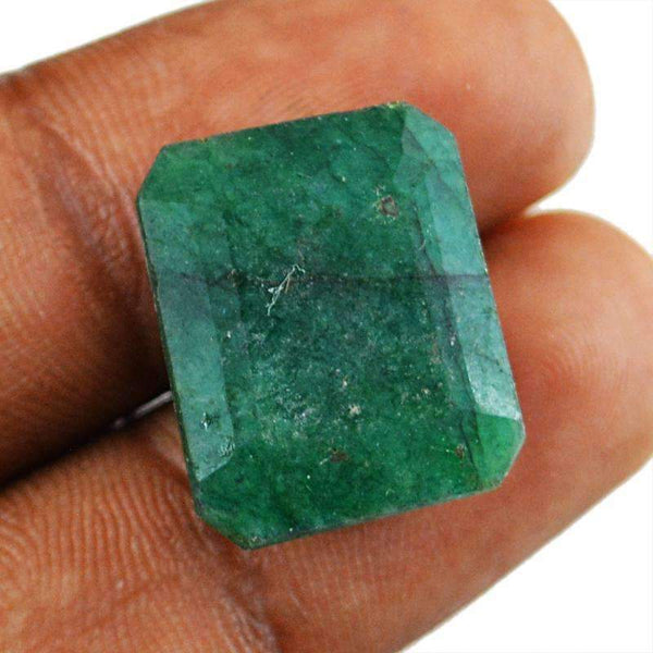 gemsmore:Earth Mind Green Emerald Faceted Gemstone - Genuine Loose