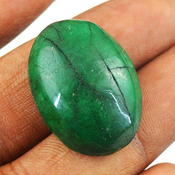 gemsmore:Earth Mind Oval Shape Green Emerald Genuine Gemstone