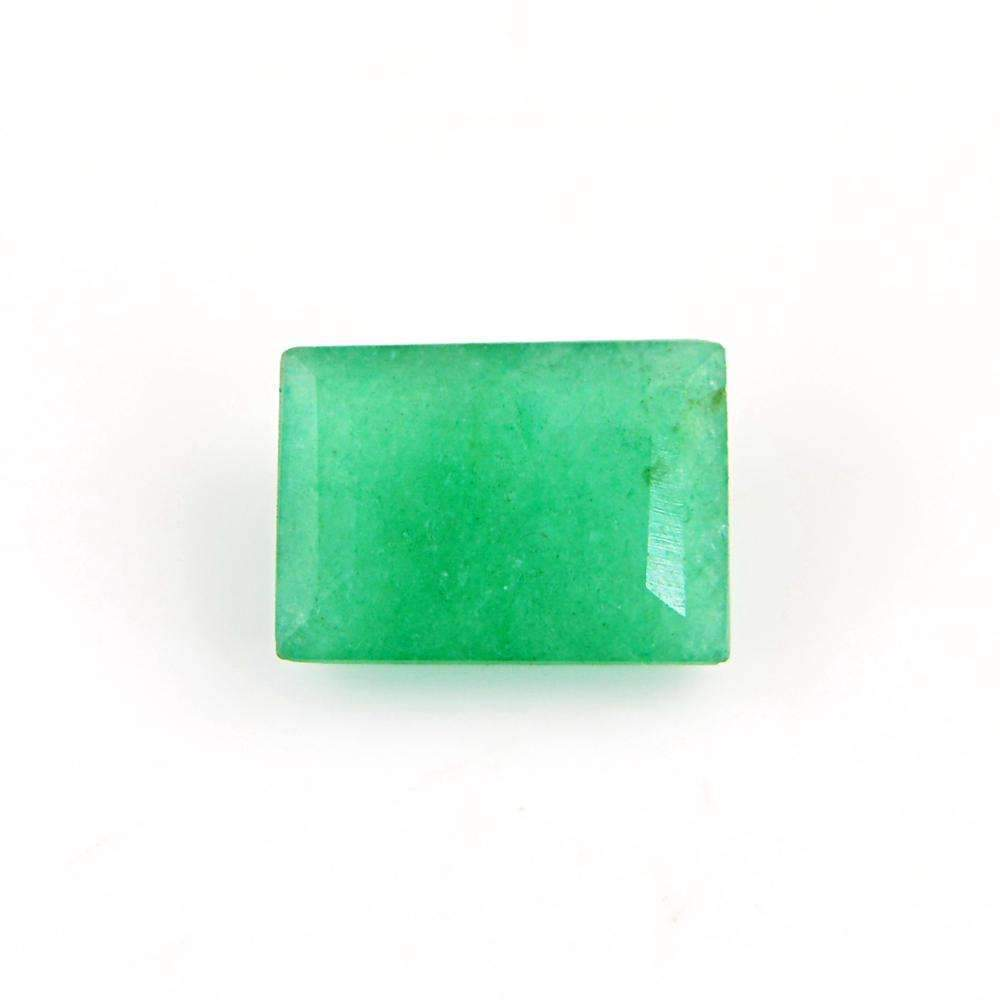 gemsmore:Earth Mined Green Emerald Faceted Gemstone