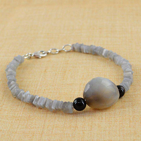 gemsmore:Exclusive Agate Bracelet - Natural Untreated Beads