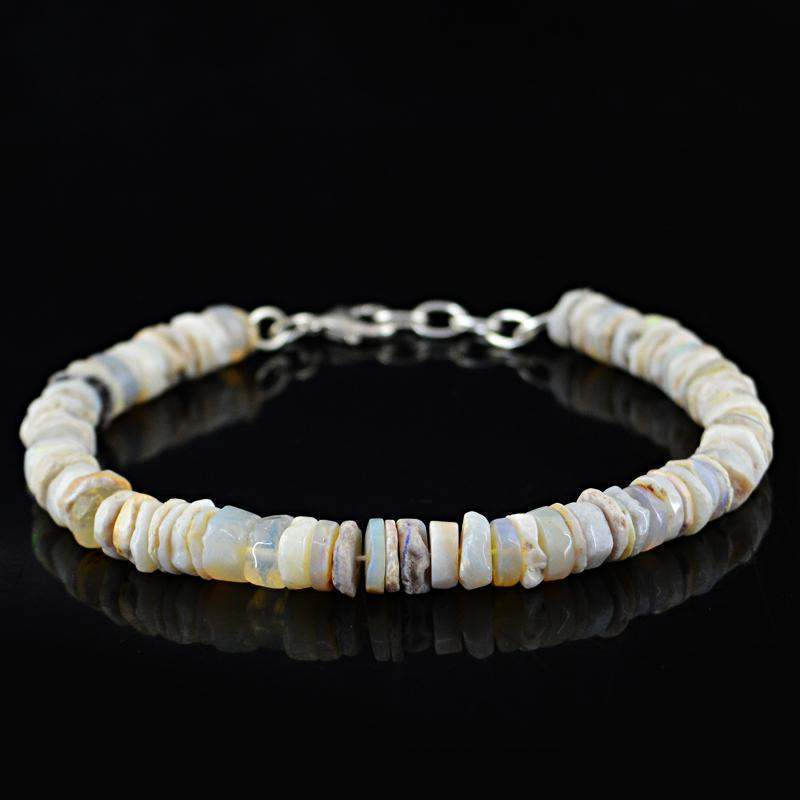 gemsmore:Exclusive Ethiopian Opal Bracelet Natural Round Beads